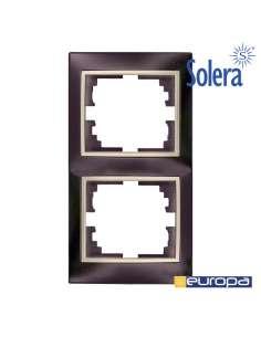 Marco vertical para 2 elementos negro 81x154x10mm s.europa solera
