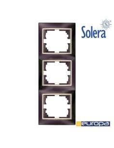 Marco vertical para 3 elementos negro 81x225x10mm s.europa solera