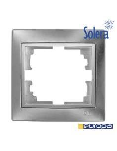 Marco para 1 elemento plata 83x81x10mm.s.europa solera