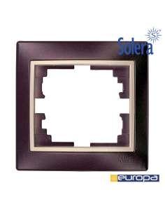 Marco para 1 elemento marco negro y aro perla 83x81x10mm. s.europa solera