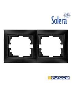 Marco para 2 elementos horizontal grafito 154x81x10mm s.europa solera