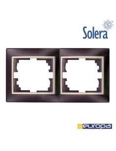 Marco para 2 elementos horizontal negro y perla 154x81x10mm s.europa solera