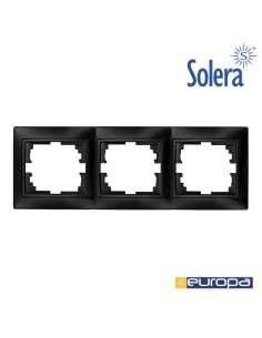 Marco para 3 elementos horizontal grafito 225x81x10mm s.europa solera