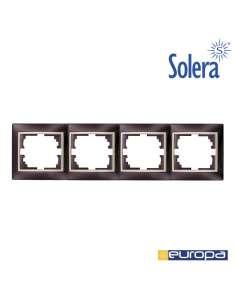 Marco horizontal para 4 elementos negro 296x81x10mm s.europa solera
