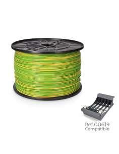 Carrete cablecillo flexible 1,5mm bicolor 1000mts (bobina grande ø400x200mm)