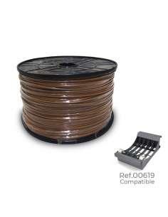 Carrete cablecillo flexible 1,5mm marron 1000mts(bobina grande ø400x200mm)