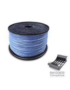 Carrete cablecillo flexible 2,5mm azul 800mts (bobina grande ø400x200mm)
