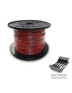 "Carrete paralelo ""audio"" 2x0,75mm rojo-negro 1000mts"