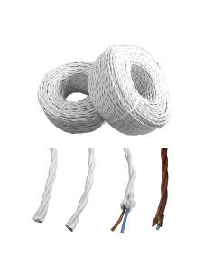 Paralelo textil trenzado 3x1mm marron     euro/mts
